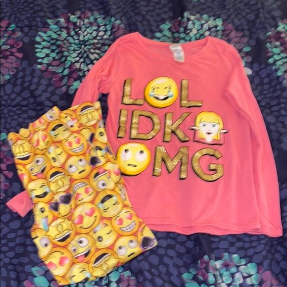 Children's Place girls size 7/8 medium pajama set